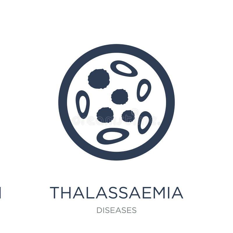 Thalassaemia icon. Trendy flat vector Thalassaemia icon on white royalty free illustration