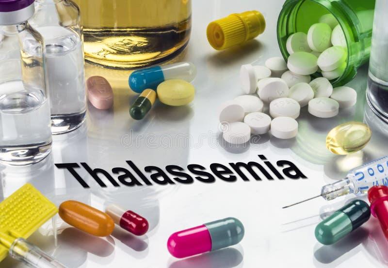 Thalassemia, Geneesmiddelen als Concept Gewone Behandeling, Conceptueel Beeld royalty-vrije stock foto's