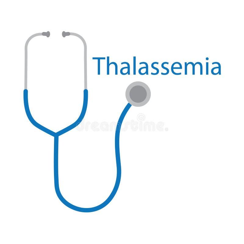 Thalassemiaord och stetoskopsymbol vektor illustrationer