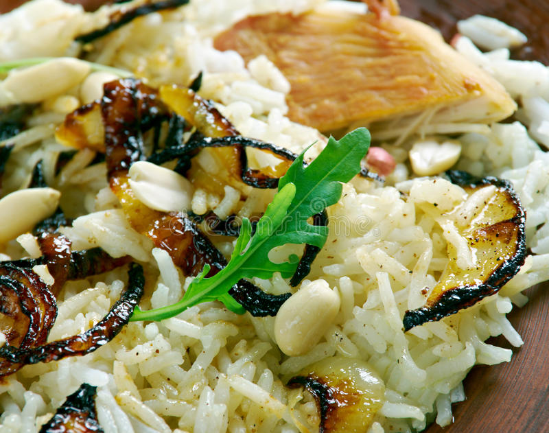 Thalassery Chicken biryani. Rice-based dish blended with spices and chicken. Kerala cuisine royalty free stock photography