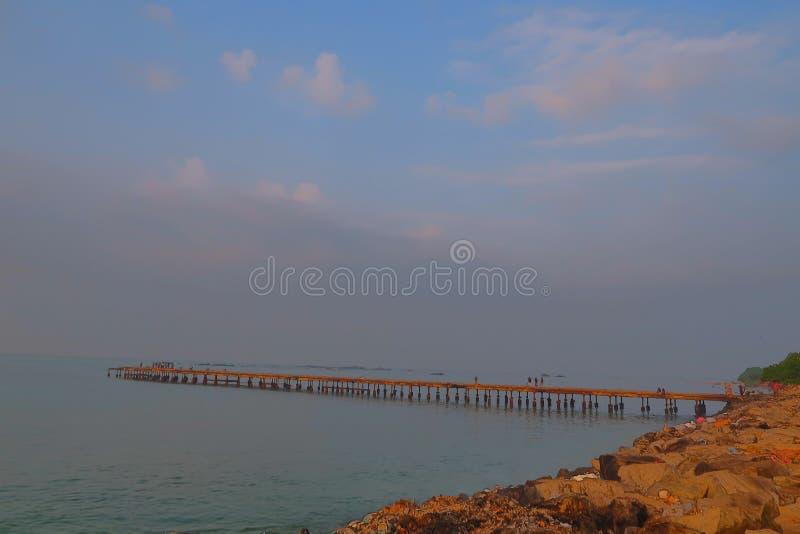 Thalassery kadalpalam most, Kannur obrazy stock