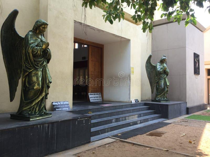 Thalawila St Anne & x27; s-kyrka i Sri Lanka royaltyfri fotografi