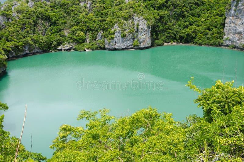 Thale Nai lagoon, Mae Koh island, Ang Thong National Marine Park stock image