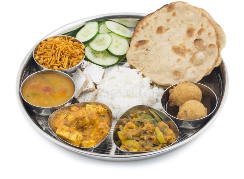Thali indio de la comida imagen de archivo libre de regalías