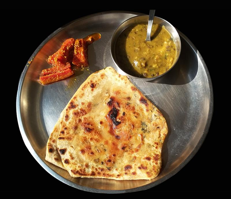 Thali indisk mat arkivbild