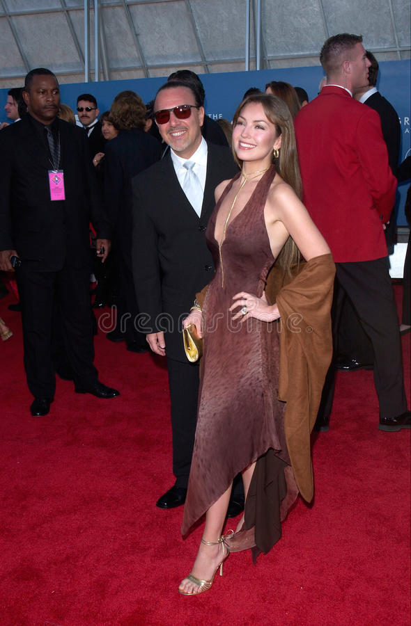 Thalia, Tommy Mottola στοκ εικόνα