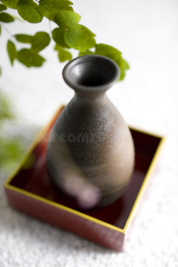 Free Thalictrum Rochebrunianum And Sake Bottle Royalty Free Stock Photos - 10126978