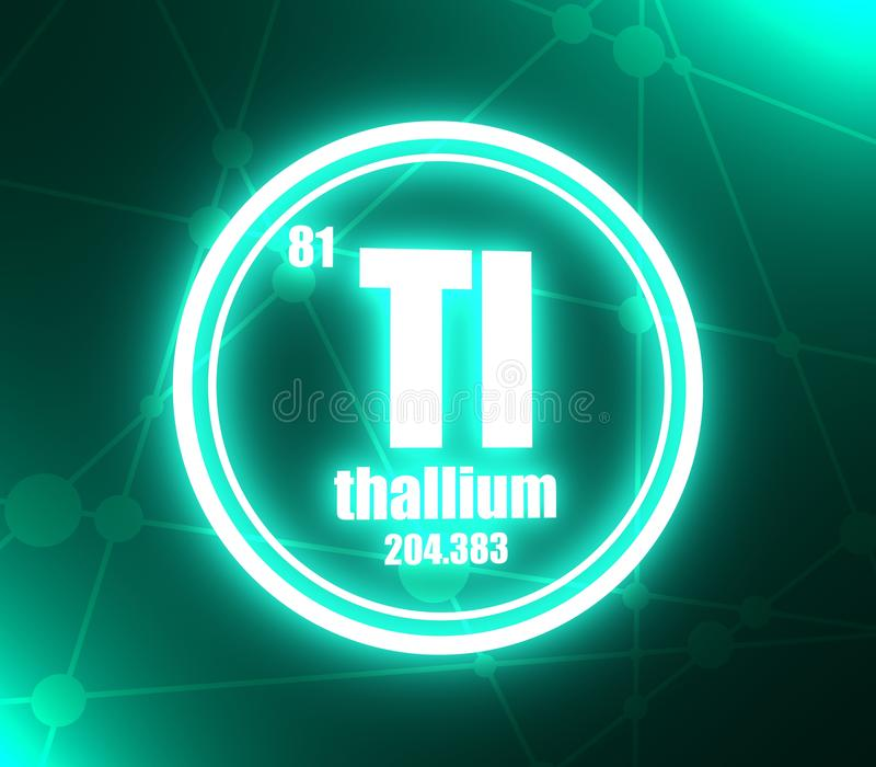 Thallium chemisch element royalty-vrije illustratie