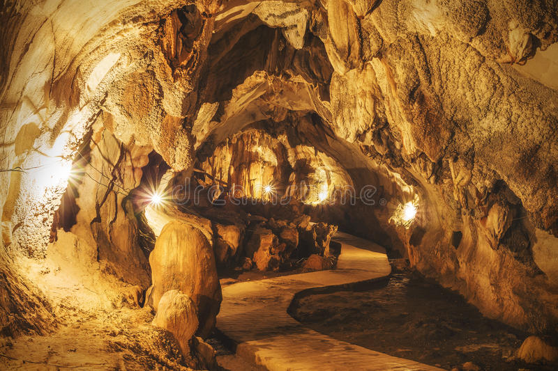 Tham Chang Cave in Vang Vieng, Vientiane Province, Laos.  stock photo
