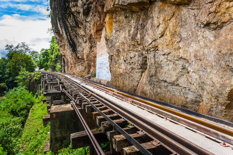 Download Tham krasae bridge. stock photo. Image of historic, railway - 32866770