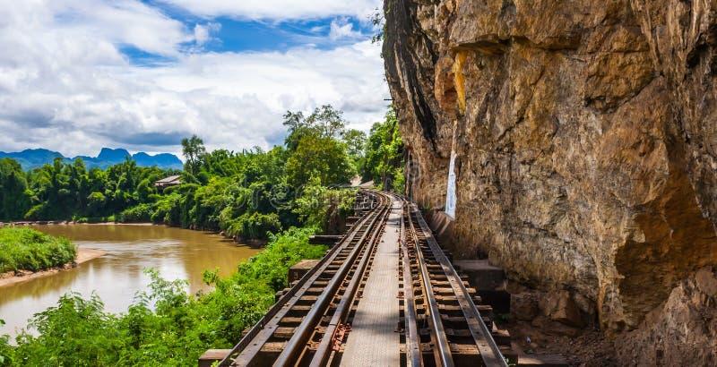 Download Tham krasae bridge. stock image. Image of mountain, kwai - 32867319