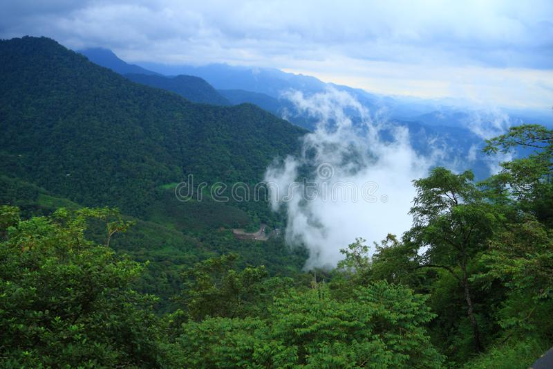 Thamarassery Churam-Wayanad foto de stock