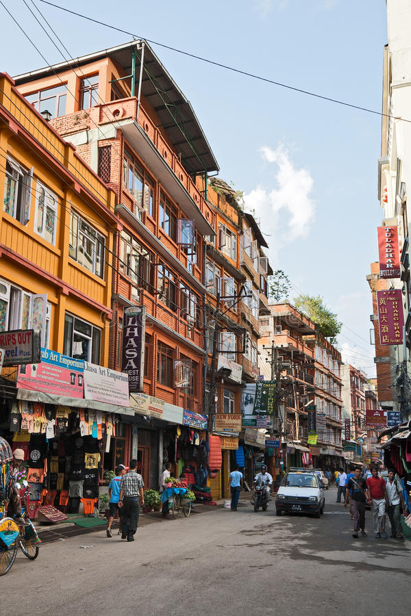 Download Thamel in Kathmandu editorial photography. Image of asia - 39502832