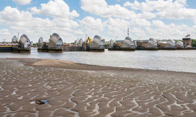 Thames bariera w Londyn zdjęcia royalty free