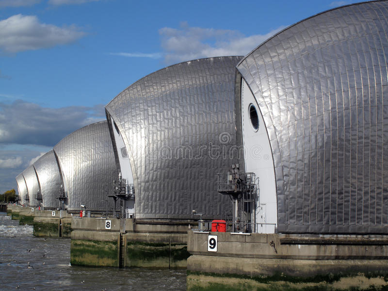 The Thames Barrier stock images