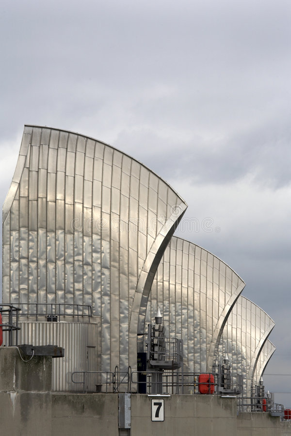 Download Thames barrier stock photo. Image of environmental, grey - 1349034