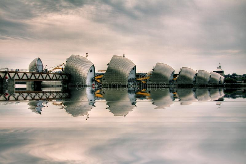 Download Thames Barrier editorial stock photo. Image of city, greenwich - 28215303