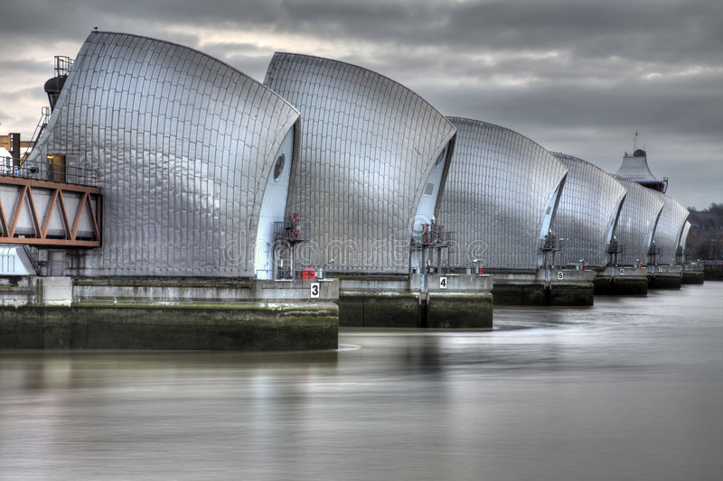 Download Thames Barrier stock photo. Image of britain, tide, europe - 7942472