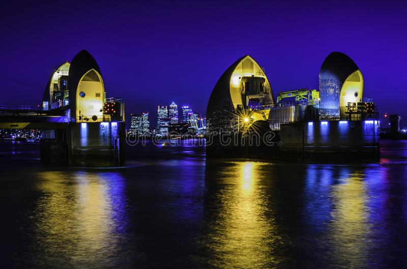 Thames Barrier Blues stock photo
