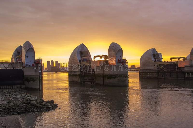 Thames barrier royalty free stock photography