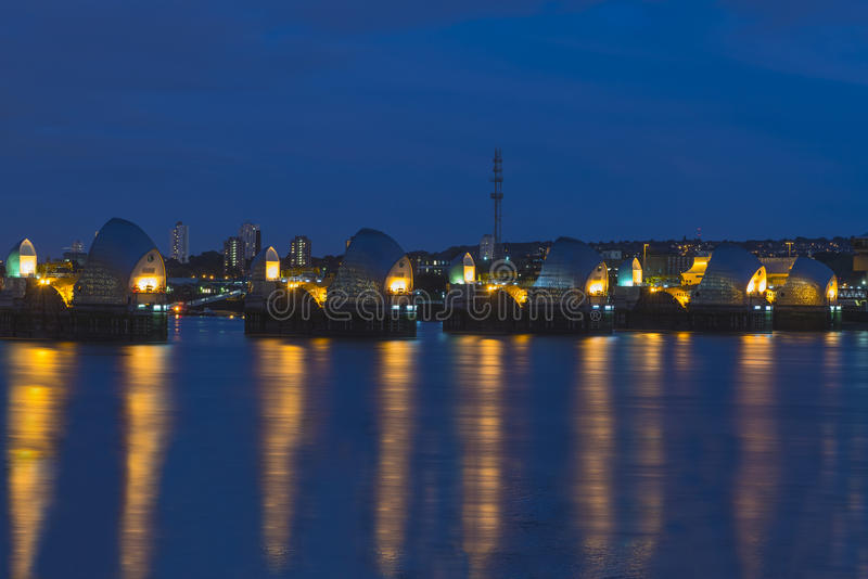 Download Thames Barrier In London UK, At Night Stock Photography - Image: 34162542
