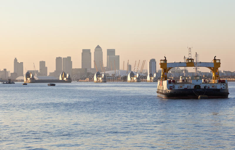 Download The Thames Barrier With O2 Arena And Canary Wharf Editorial Stock Photo - Image: 22858338