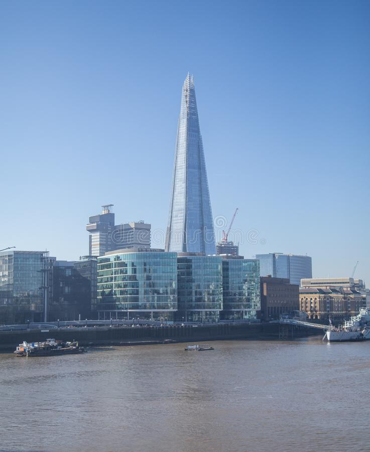London . The Shard and River Thames. royalty free stock photography