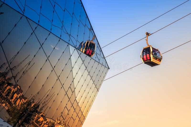 Thames Cable Car in London royalty free stock photos