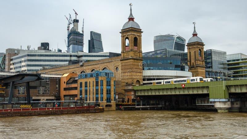 Thames flod, London arkivbild