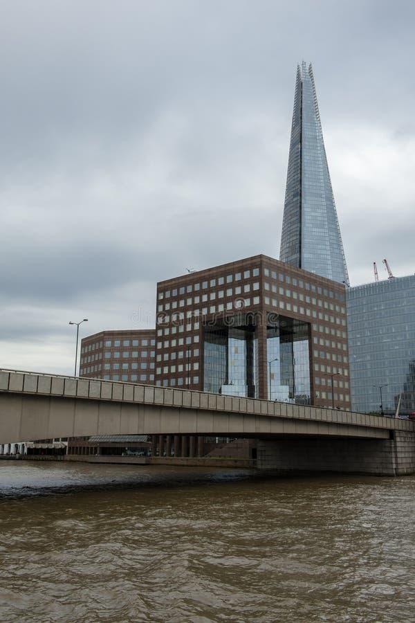 Thames flod, London fotografering för bildbyråer