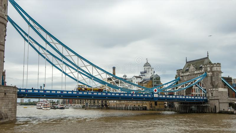 Thames flod, London arkivfoto