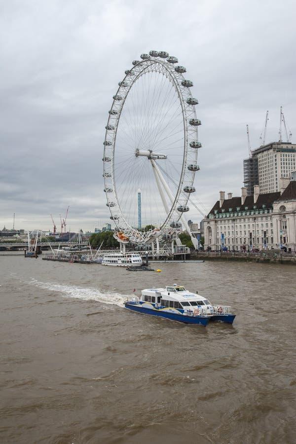 Thames flod, London arkivfoton