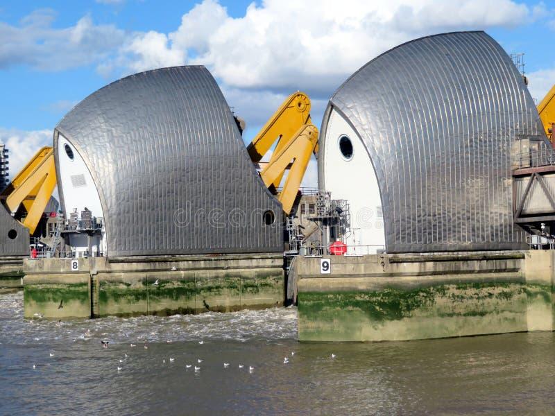 Thames flood barrier royalty free stock photos