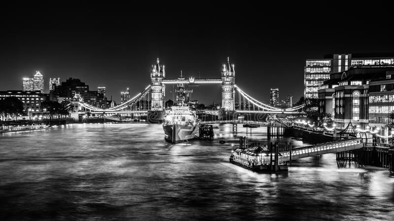 Thames Noir royalty free stock photography