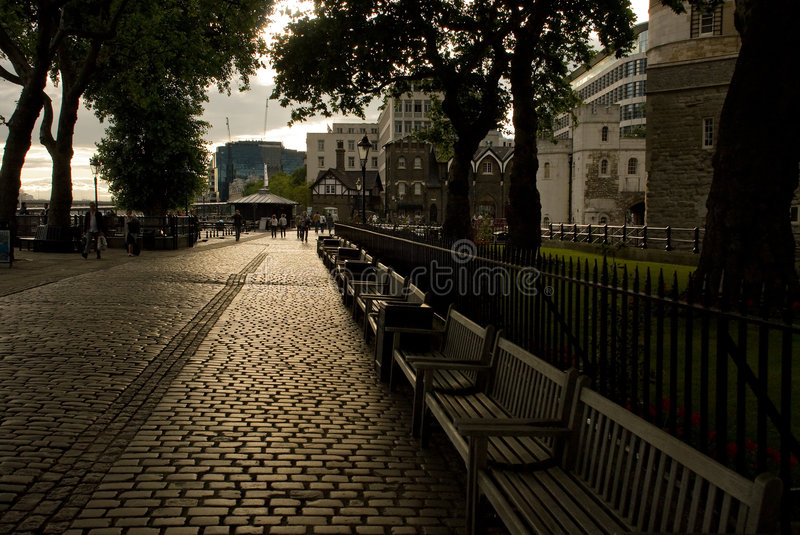 Download Thames quay stock image. Image of quay, handrail, tree - 5983927