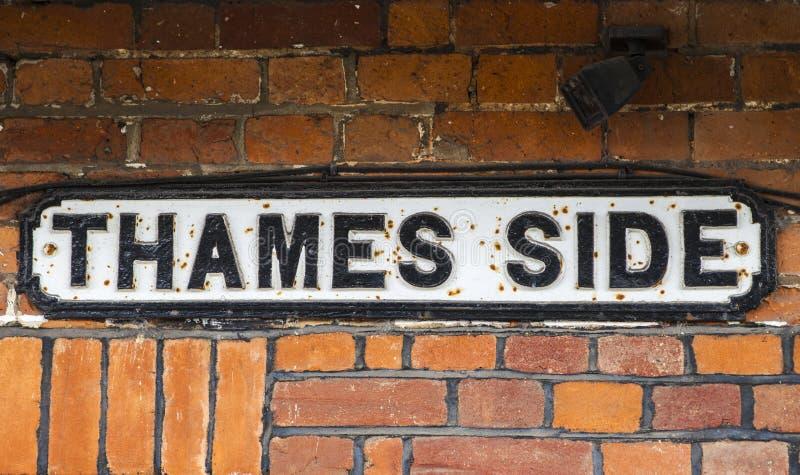 Thames Side in Windsor. Berkshire stock photo