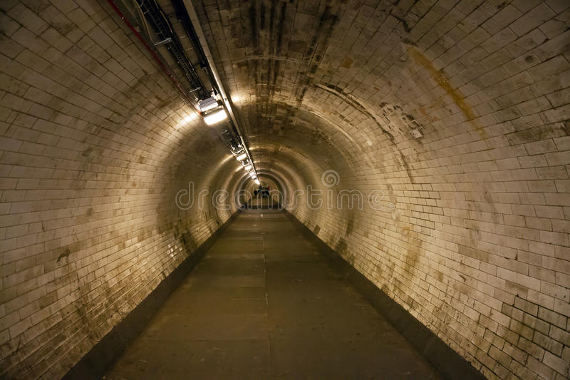 Thames Tunnel. Tunnel underneath the Thames in Greenwich stock image