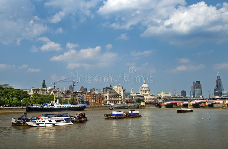 Thames, water artery of London stock images