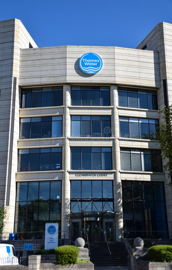 Thames water offices stock image