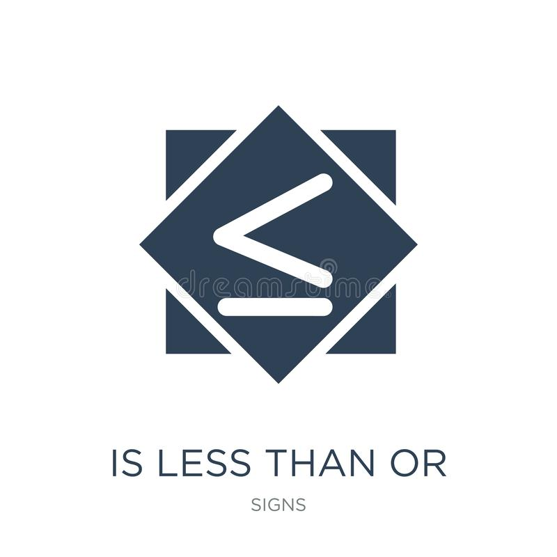 is less than or equal to icon in trendy design style. is less than or equal to icon isolated on white background. is less than or stock illustration