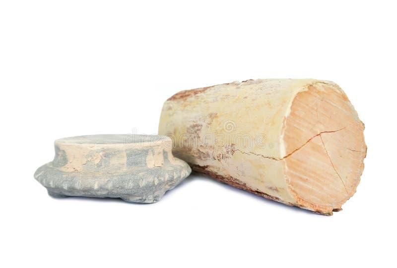 Thanaka e la pietra sfregano, cura di pelle tradizionale del Myanmar fotografia stock