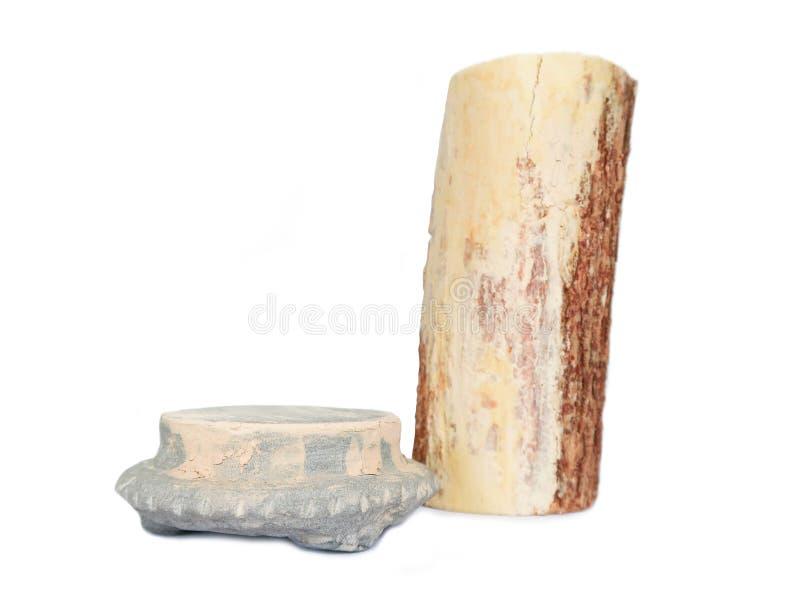 Thanaka et pierre frottent, des soins de la peau traditionnels de Myanmar photographie stock