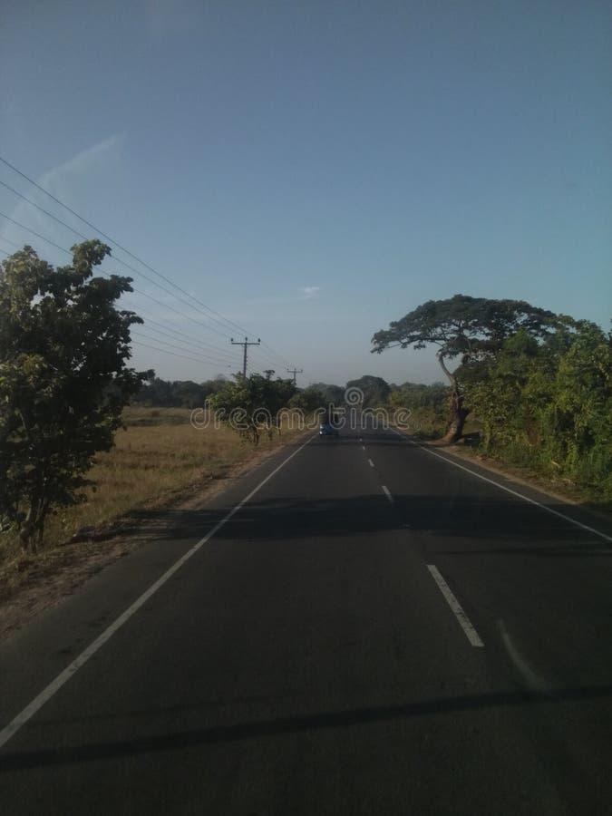 Thanamalwila Wellawaya väg Sri Lanka arkivfoton