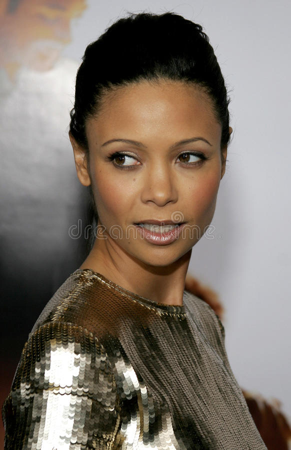 Thandie Newton. HOLLYWOOD, CALIFORNIA. Thursday December 7, 2006. Thandie Newton attends the Los Angeles Premiere of The Pursuit of Happyness held at the Mann royalty free stock photos