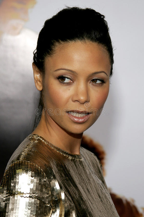 Thandie Newton. HOLLYWOOD, CALIFORNIA. Thursday December 7, 2006. Thandie Newton attends the Los Angeles Premiere of The Pursuit of Happyness held at the Mann royalty free stock images
