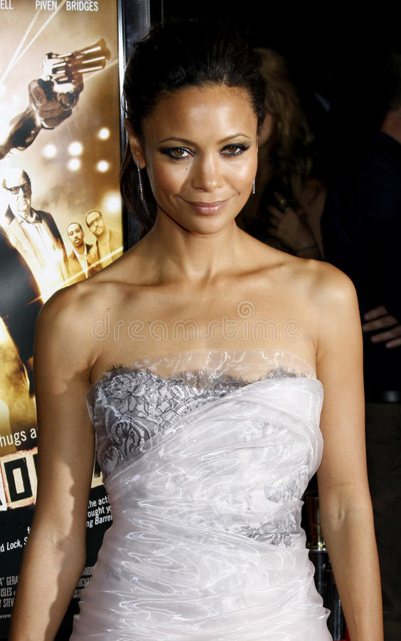 Thandie Newton. 06/10/2008 - Hollywood - Thandie Newton at the Los Angeles Premiere of `RocknRolla` held at the ArcLight Theater in Hollywood, California, United royalty free stock image