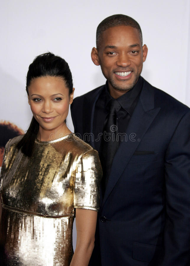 Thandie Newton and Will Smith. HOLLYWOOD, CALIFORNIA. Thursday December 7, 2006. Will Smith and Thandie Newton attend the Los Angeles Premiere of The Pursuit of stock images