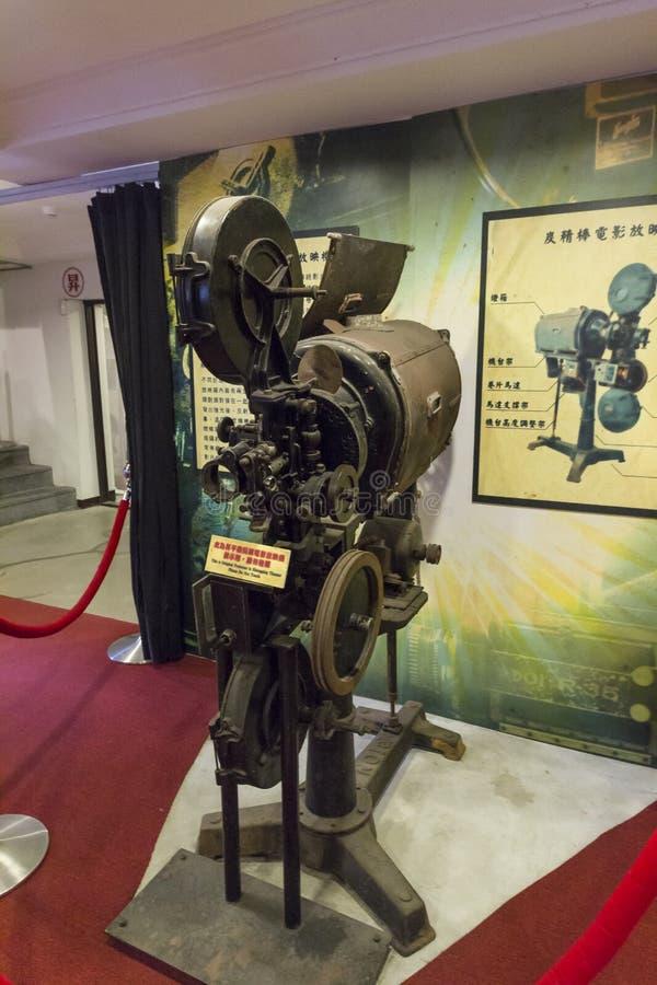 Thangbinh Movie Theater,Jiufen,, Taipei, Taiwan. May, 7th, 2014, Thangbinh Movie Theater which was the biggest movie theater in Taiwan is an historical stock photos