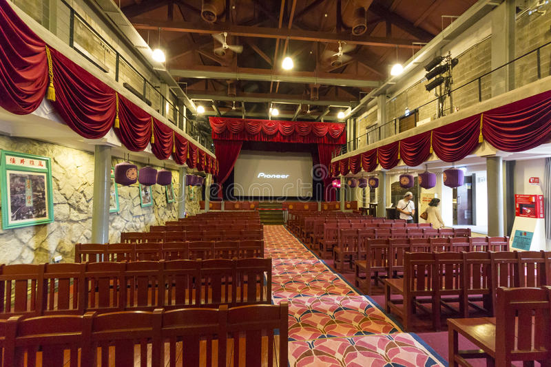 Thangbinh Movie Theater, Jiufen, Taipei, Taiwan. May, 7th, 2014, Thangbinh Movie Theater which was the biggest movie theater in Taiwan is an historical royalty free stock image