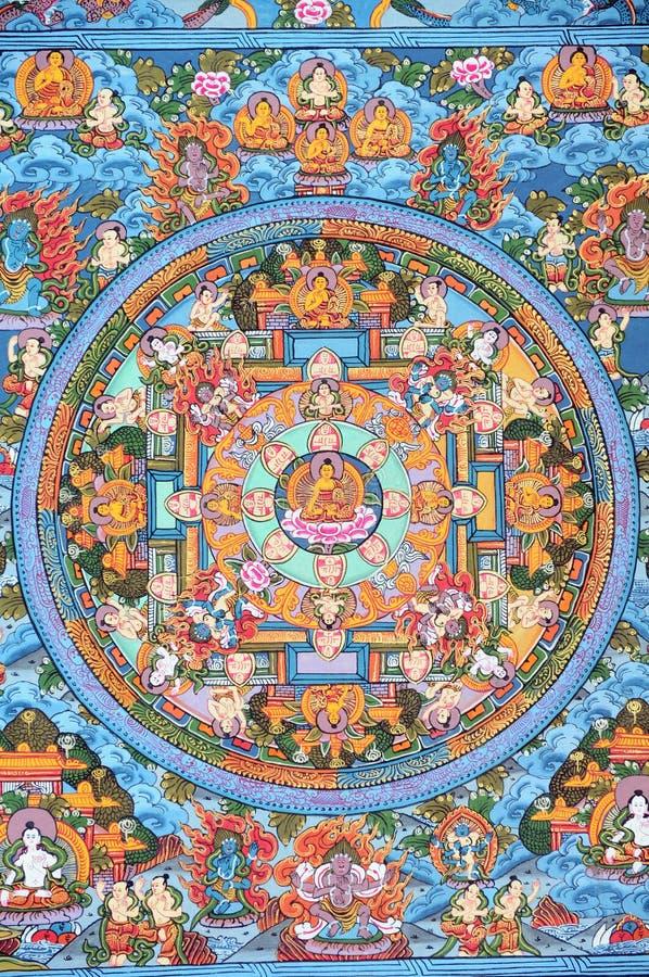 Thangka buddista tibetano immagini stock